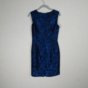 Size 4P NWT Tahari By Arthur S Levine Blue petite 2-piece Metallic Lace Skirt